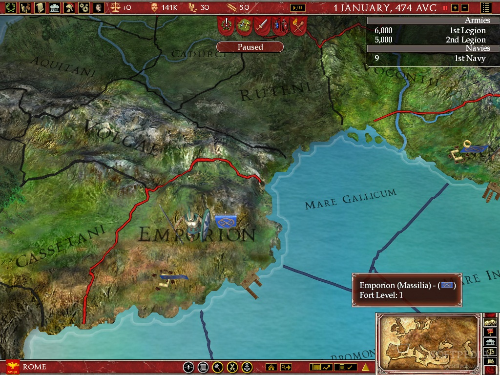 Europa Universalis Rome - Eu rome map