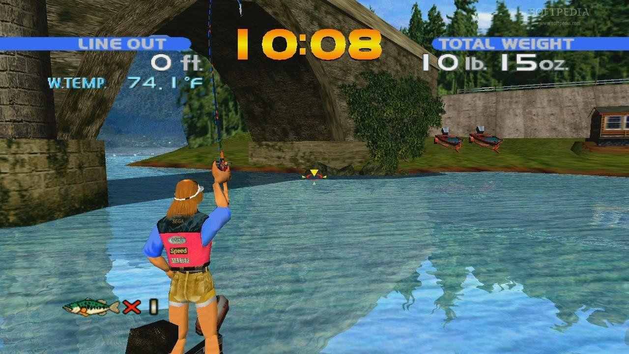 Sega bass fishing for Bass fishing game