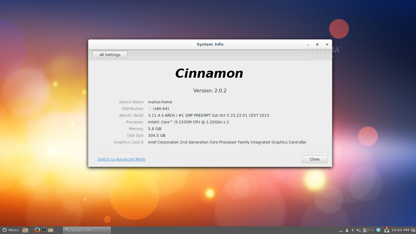 First Look at Cinnamon 2 0 on Arch Linux