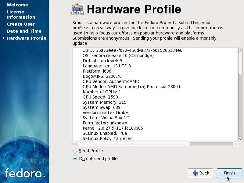 Installing Fedora 10