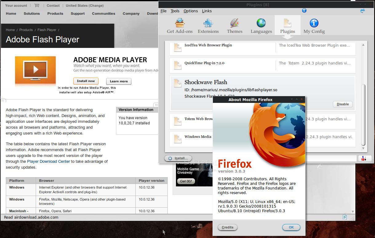 Adobe Flash for Ubuntu AMD64