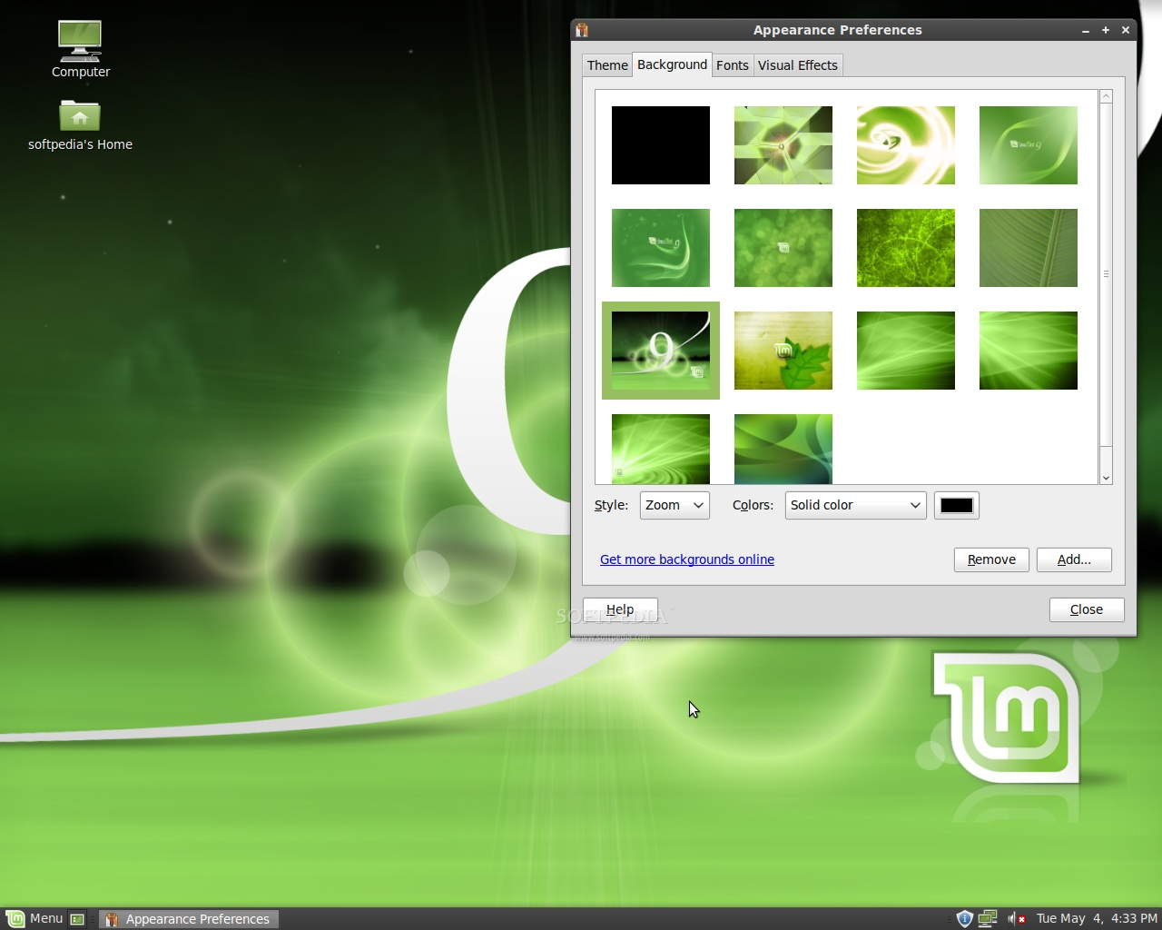 Besides this, Linux Mint 9