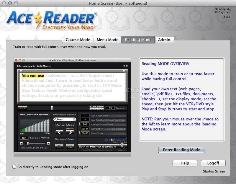 AceReader Elite � Improve Your Reading Skills - Softpedia