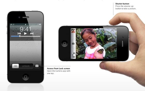 iOS 5 Features: Enhanced Camera App