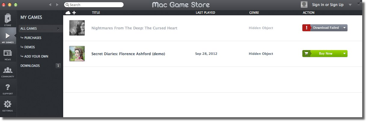 Mac Game Store - A Dedicated App Store for OS X Games