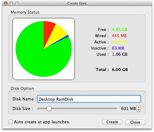 Make Ram Disk: A Utility For Mac