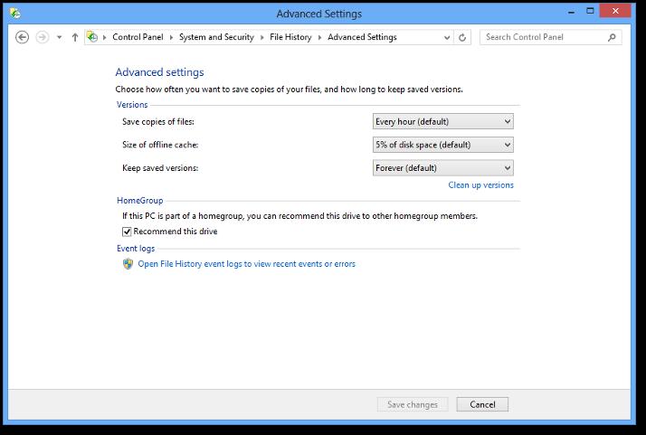Windows 8 Secrets: Incremental Backup with File History ...