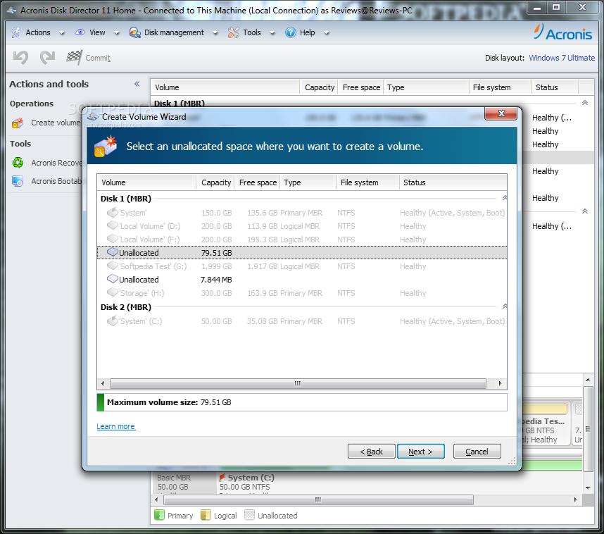 acronis disk director portable windows 10