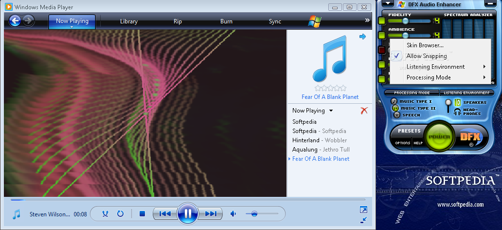 dfx free  full version winamp media