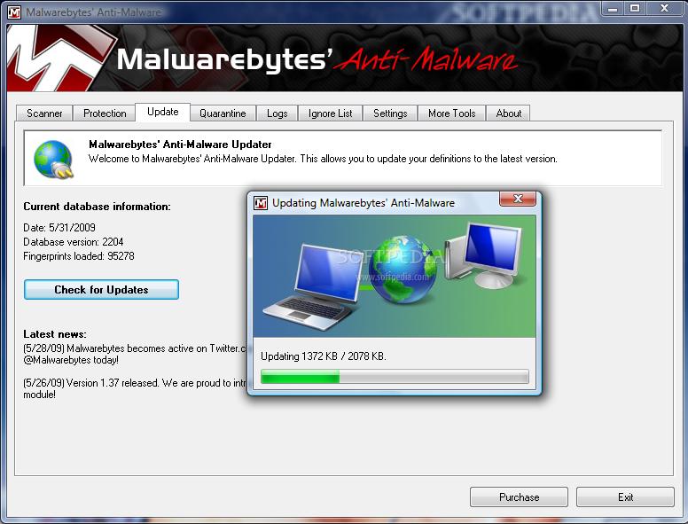 Malwarebytes' Anti-Malware Scanner