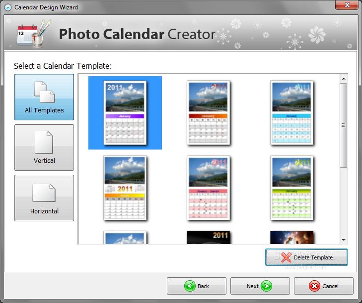 Calendar Design Generator : Create your own custom calendar