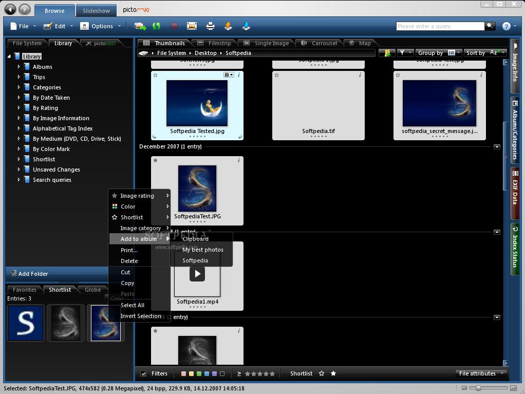 Pictomio - 3D photo organizer - SnapFiles