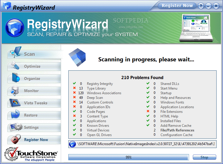 how to delete the registry of a software