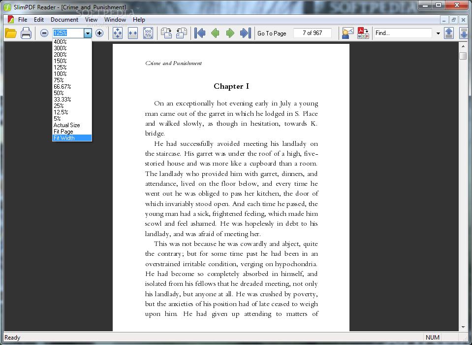 Slim PDF Reader .