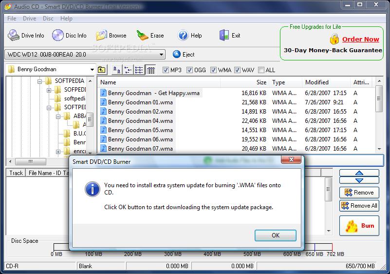 Smart DVD/CD Burner 3.0.85 Download - TechSpot