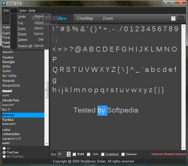 Fast and Sleek Font Viewer
