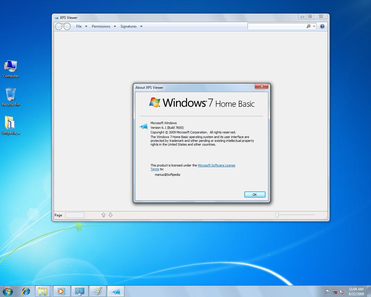 Windows 7 RTM Home Basic 110-Screenshot Gallery