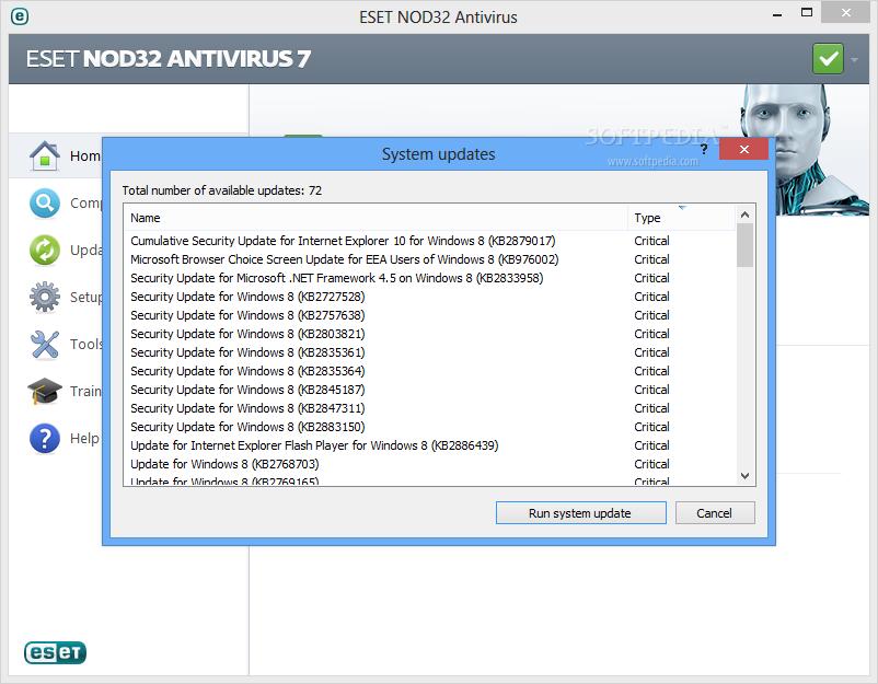 free eset antivirus for windows 7