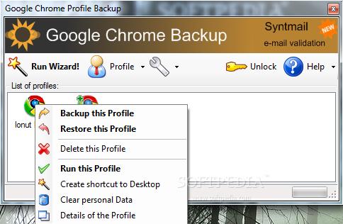 Backup Google Chrome Profiles