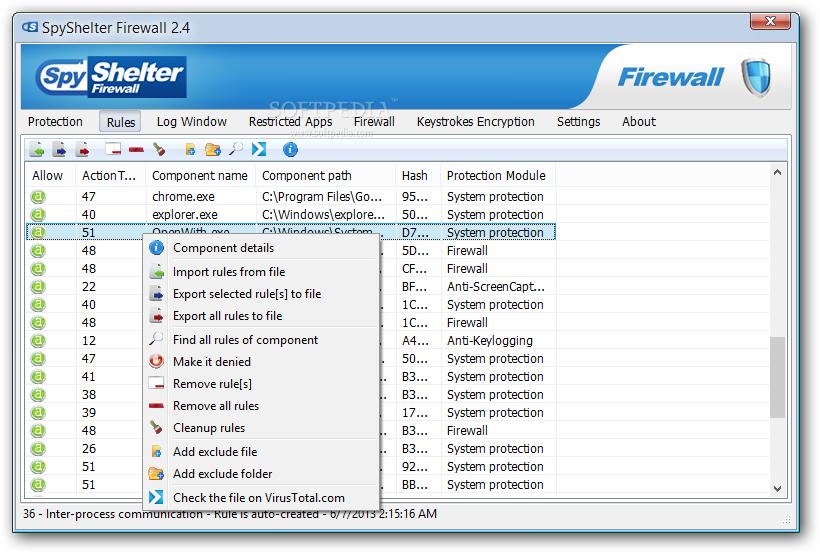 Spyshelter firewall