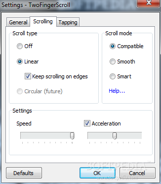 how to fix double finger scroll on touchpad