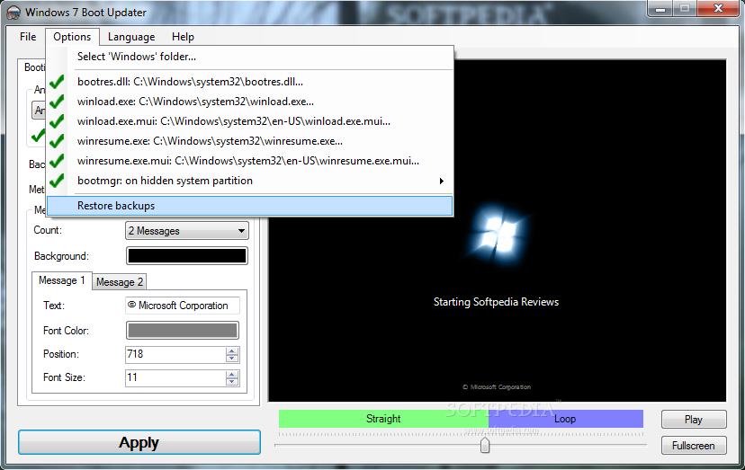 Windows 7 boot updater crash reinstall windows millenium