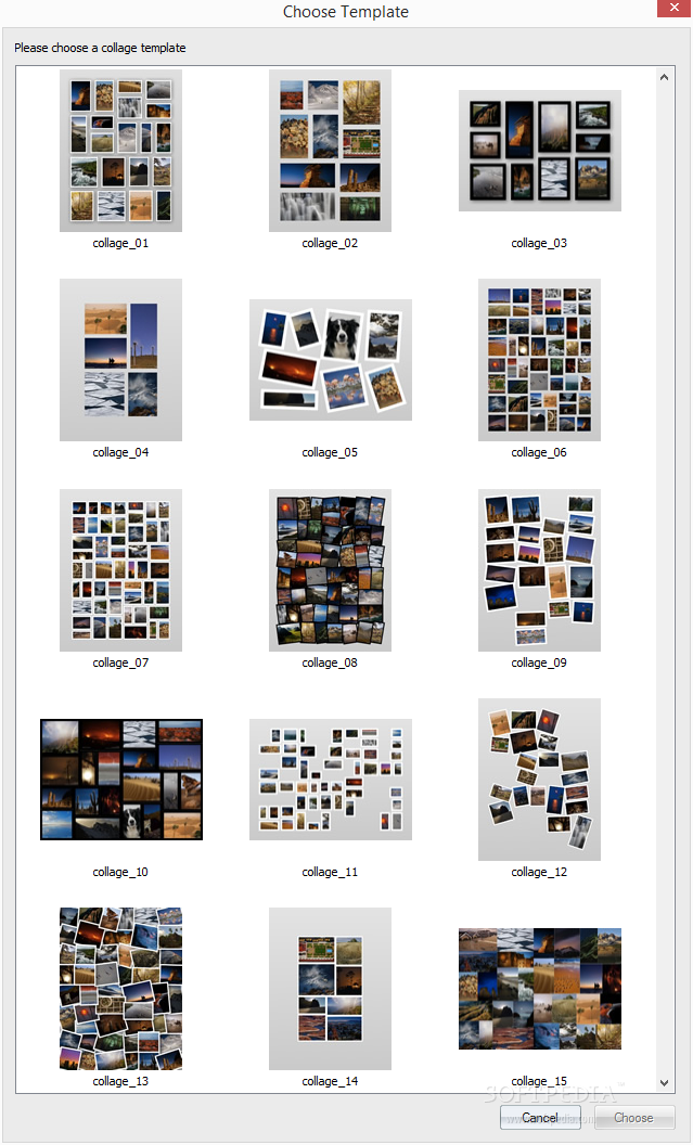 Showing The Collageit Collage Templates