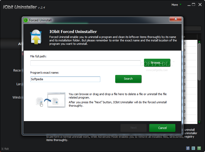 how to delete stubborn iobit files