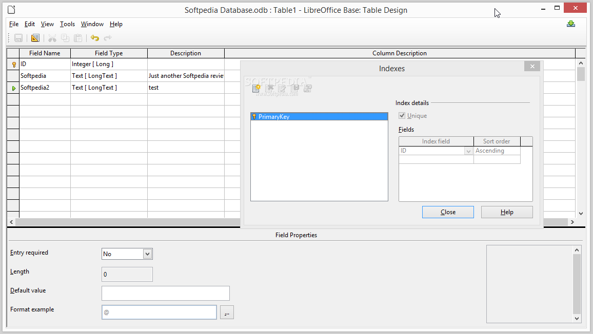 Libreoffice base review for Table design libreoffice