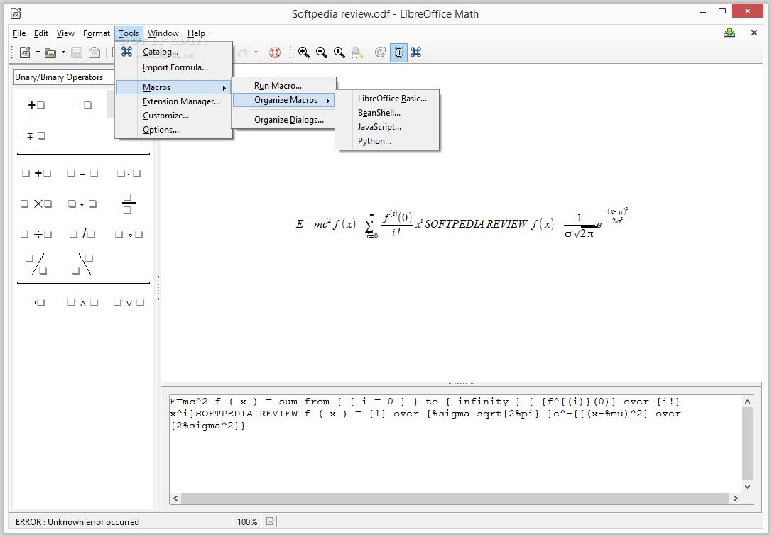 LibreOffice Math Review