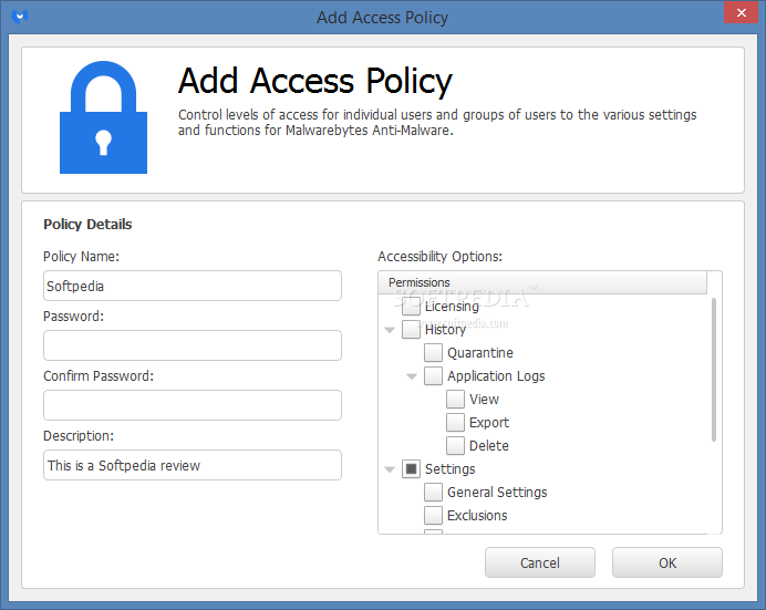 malwarebytes export settings
