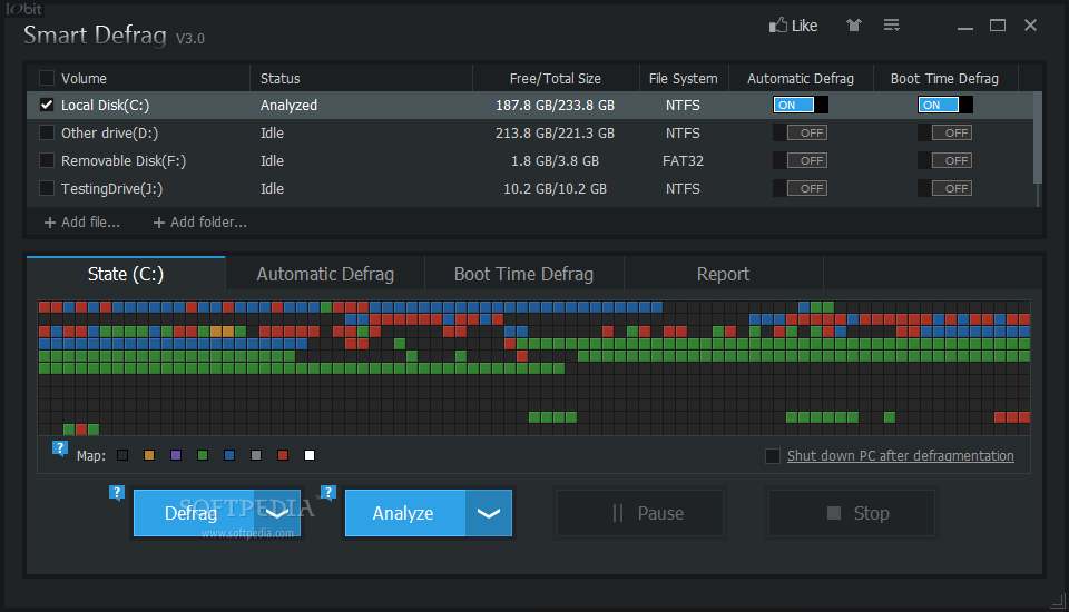 remove iobit boot time defrag
