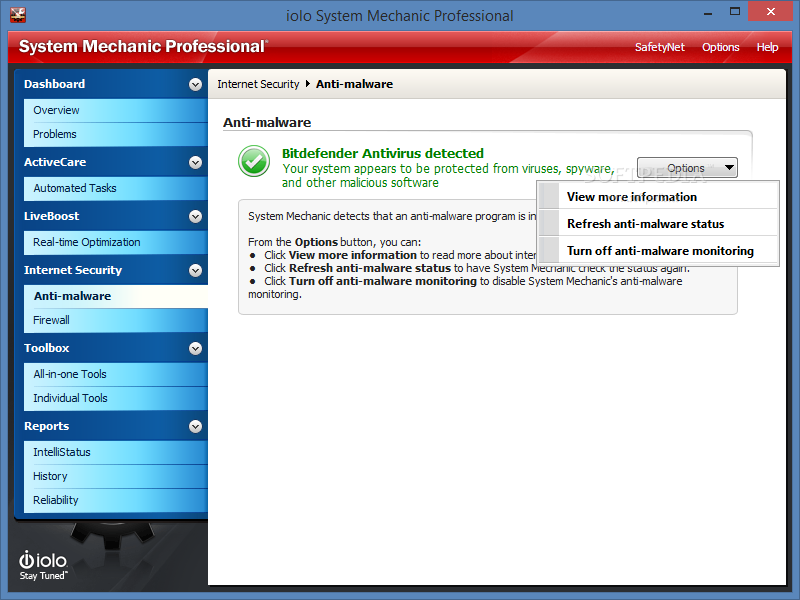 Download Monitor Pc Health Status at Monitor Informer: System Mechanic Prof