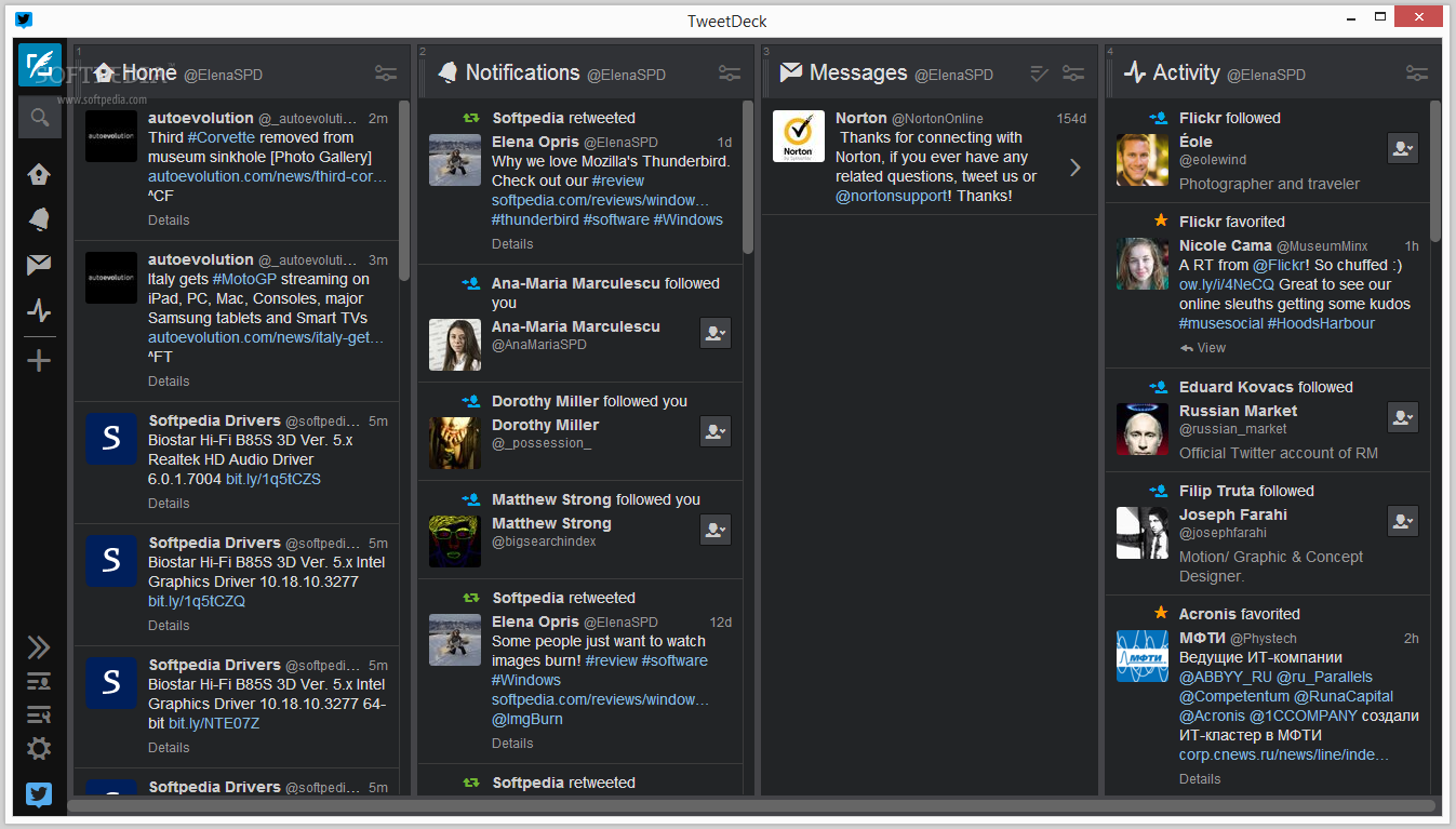 The tweetdeck with a new interface for websites and chrome store ...