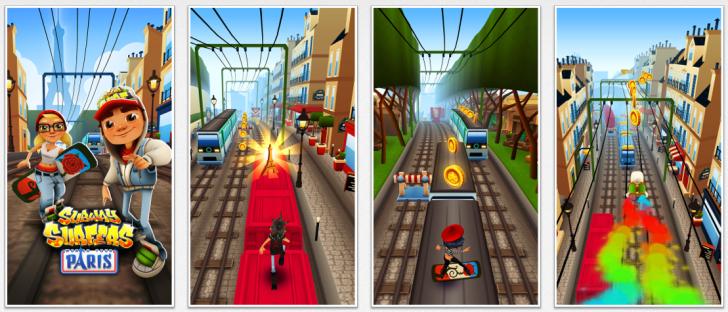 captura de pantalla de subway surfers uno de los mejores juegos de