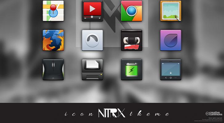 6.000 nuevos iconos creados con el paquete Nitrux OS Icon