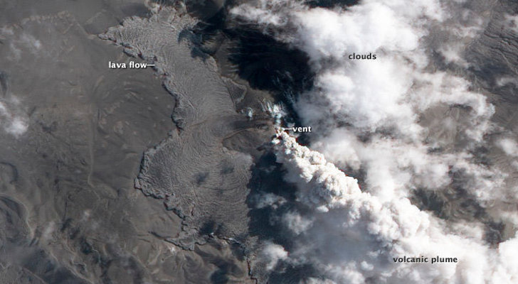El volcán chileno en actividad