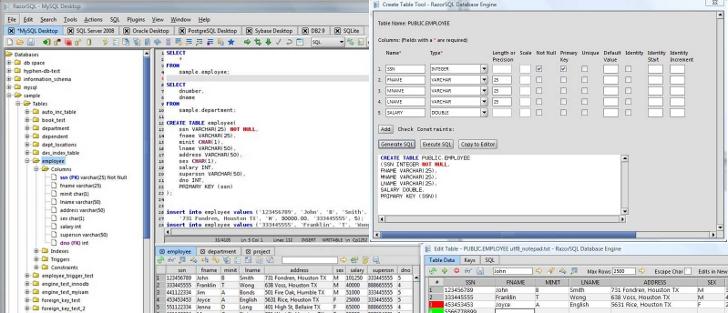 RazorSQL 6.2.4 trae mejoras para SQL Azure