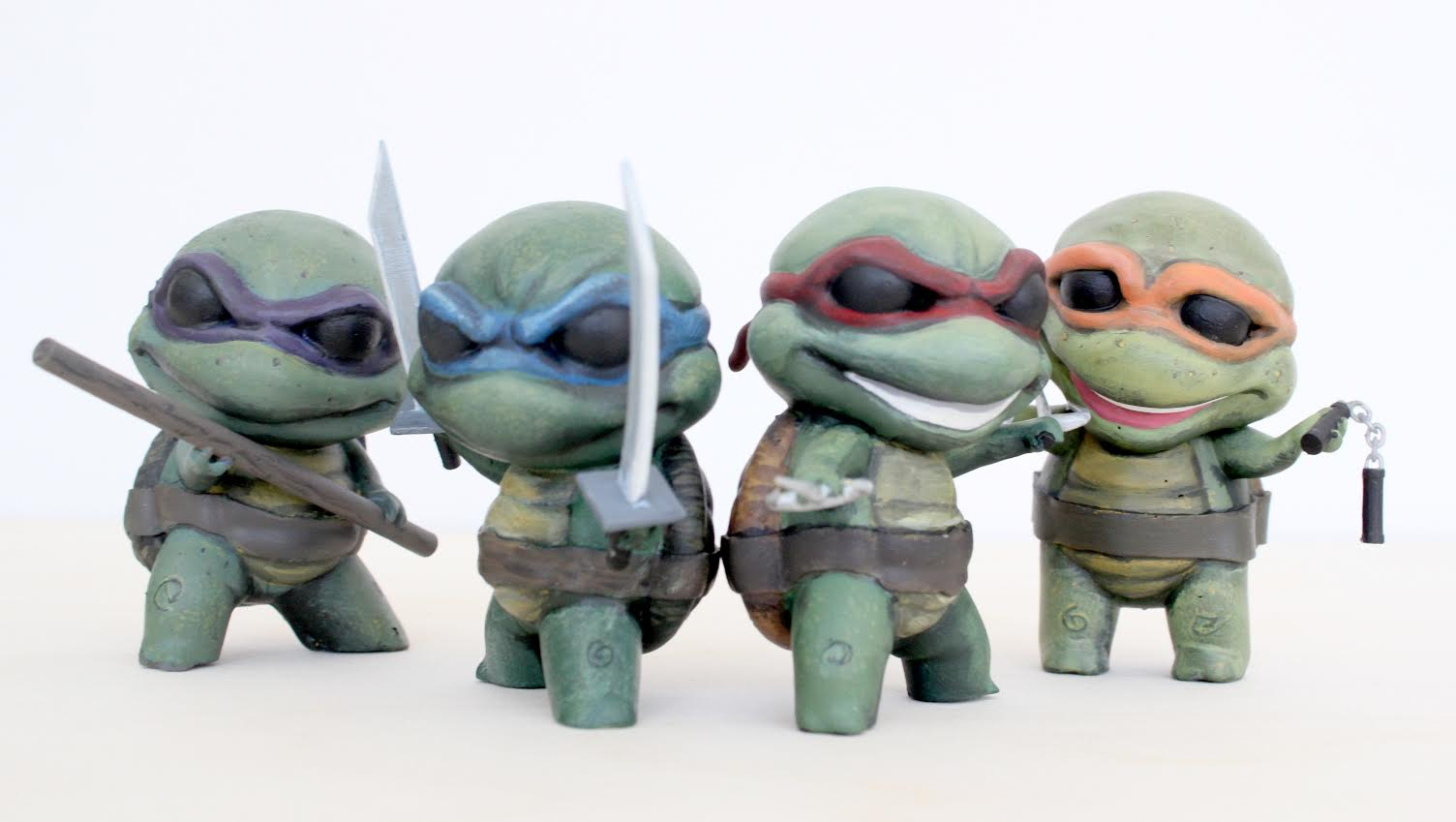 3D Printed Ninja Turtles, Chibi Edition – Pictures - Softpedia Turtle 3d Printing