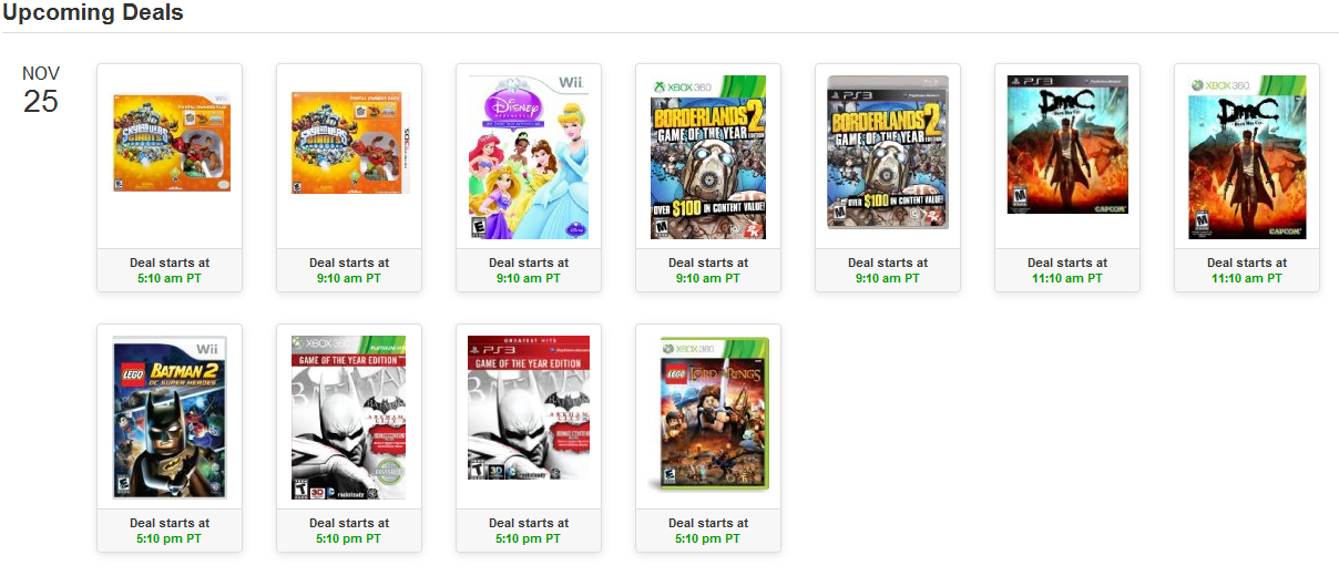Video games deals calendar amazon