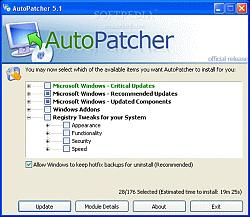 ������� ������� AutoPatcher Vista
