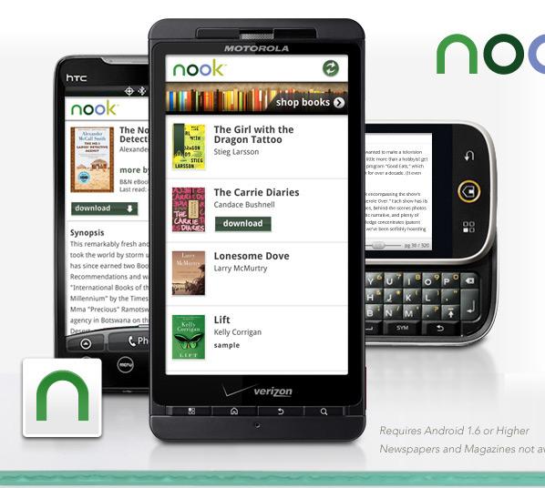 Nook App Logo Barnes & noble intros nook for