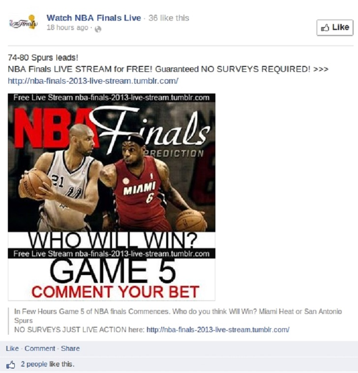 Beware of NBA Finals Live Streaming Scams - Softpedia