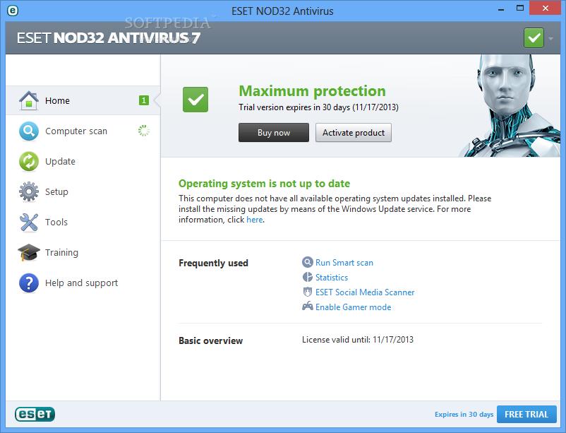 Eset Nod32 Antivirus 7 Review Softpedia