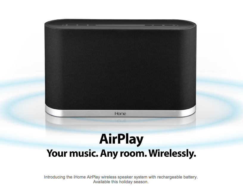first apple airplay compatible wireless speaker system unveiled softpedia. Black Bedroom Furniture Sets. Home Design Ideas