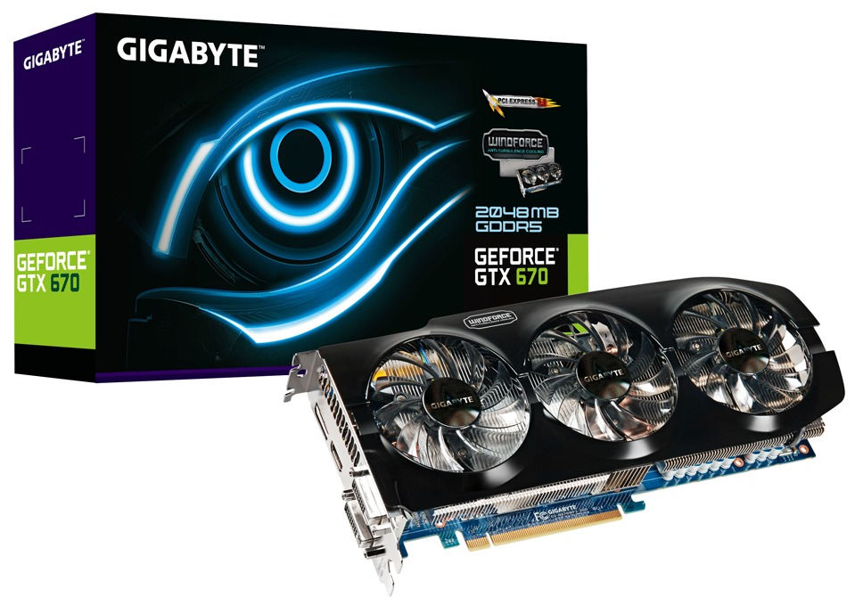 Geforce gtx 670 windforce 2x graphics card launched by gigabyte