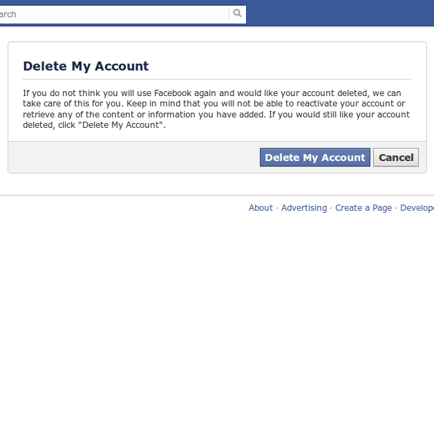 Delete my facebook account permanently - 19.8KB