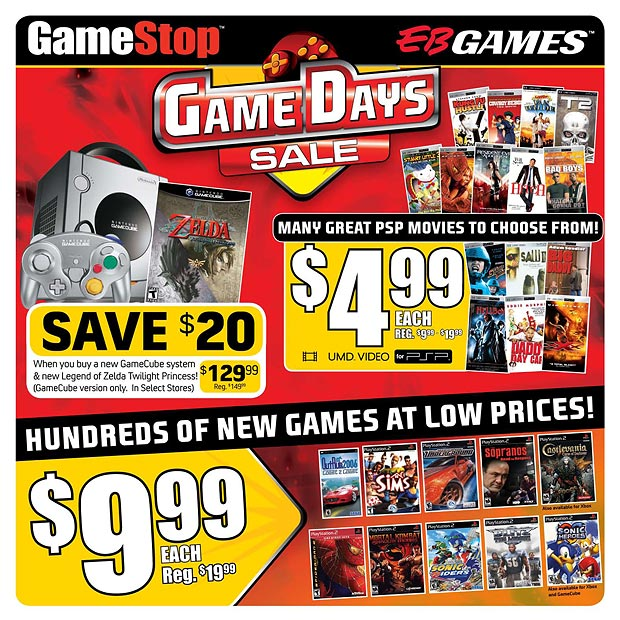 Huge Sale at GameStop and EB Games - UMDs Priced at $4.99 ...