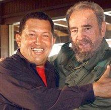 Hugo Chavez e Castro foto