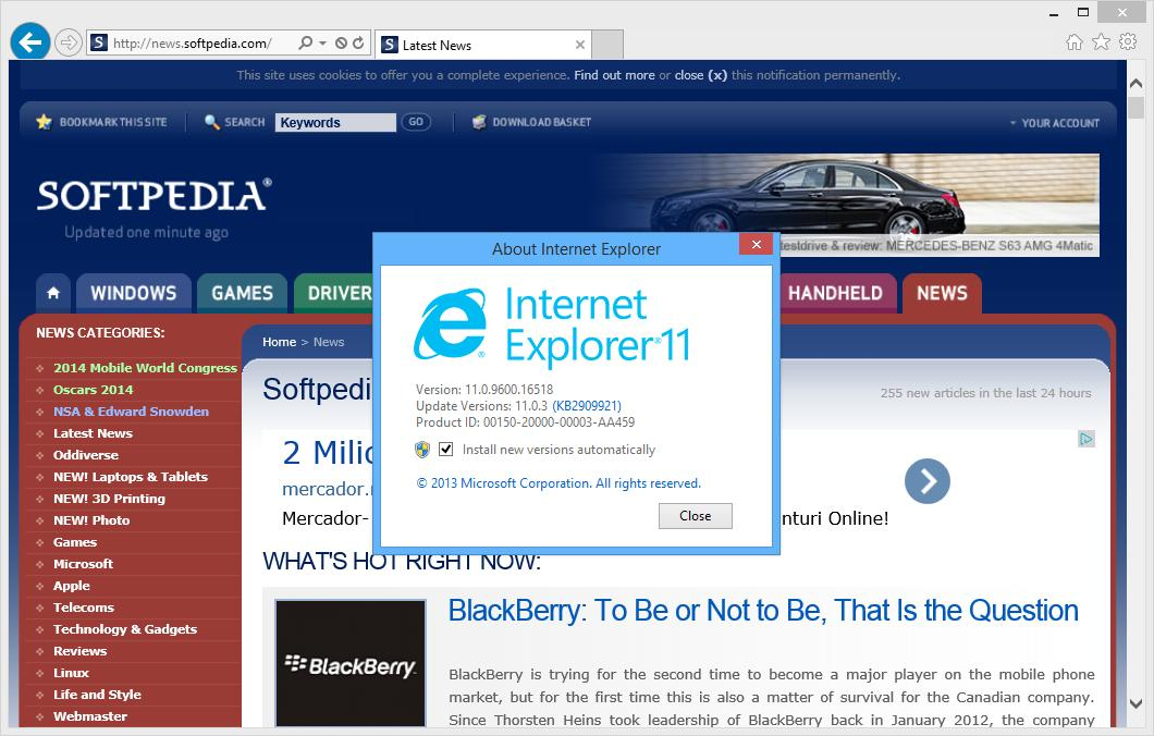 Internet explorer 11 for windows 7 with enterprise mode to leak soon